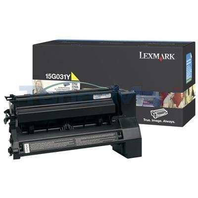 LEXMARK C752 PRINT CART YELLOW 6K